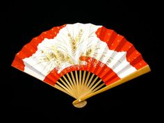 Vintage Japanese Hand Fan Flowers Clouds Gold by VintageFromJapan, $9.50 #fan #summer #fashion #accessories #shopping