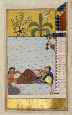 Indian miniature ragini of Chanda's love-sickness