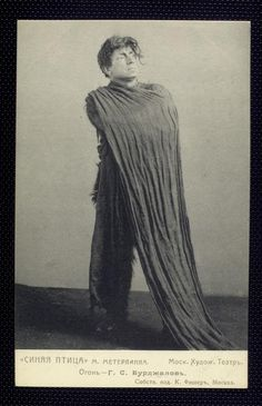 g. burdzhalov as fire.  l'oiseau bleu (the blue bird) is a 1908 play by belgian author maurice maeterlinck. it premiered on 30 september 1908 directed by konstantin stanislavski's at his moscow art theatre.