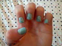 My DIY polka dot nails!