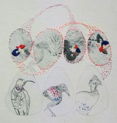 Sophie MORILLE - embroidered mixed media illustrations