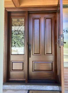 Main Entrance Door Design, Wooden Front Door Design, Wood Front Doors, Entry Doors, Home Door Design, Door Gate Design, Door Design Interior, Bedroom Door Design, Single Main Door Designs