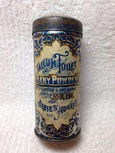 Old-Perfumed-Talcum-Toilet-Baby-Powder-Tin-Phenix-Metal-Co-Nj