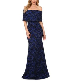Look what I found on #zulily! Blue Damask Off-Shoulder Maxi Dress #zulilyfinds