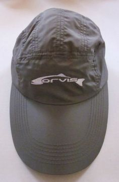 ORVIS Men's Khaki Fish Baseball Cap Hat Adjustable Polyester One Size NWT #Orvis #BaseballCap