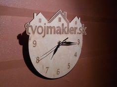 Wooden wall clock for www.tvojmakler.sk