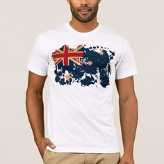 Shop Australia Flag T-Shirt created by Zipperedflags. Personalize it with photos & text or purchase as is! Types Of T Shirts, Memes, American Apparel, Heather Grey, Fitness Models, Give It To Me, Stylish, Mens Tops, Cotton