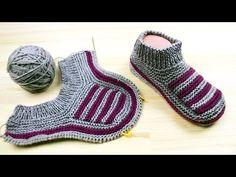 2 Ces repère en même temps que fibule ces dav - Tricot Pontos Baby Booties Knitting Pattern, Baby Boy Knitting Patterns, Knitting Paterns, Knitting Videos, Knitting Socks, Baby Knitting, Knitted Slippers, Slipper Socks, Crochet Monokini