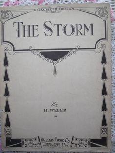 1933 The Storm An Imitation Of Nature Sheet Music by cindyscozyclutter by Etsy