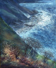 Sue Read - Cornwall seascapes by a Cornish born Painter and Artist North Cornwall, Messy Art, Water Art, Bude, Floating Frame, Oil On Canvas, Giclee Print, Coast, Sparkle