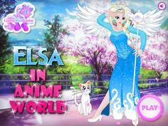 Jedna z głównych bohaterek Krainy Lodu zainspirowała japońskich rysowników. Dzięki temu piękna Elsa zamieniła się w postać z anime! http://www.ubieranki.eu/ubieranki/9892/elsa-jako-postac-z-anime.html