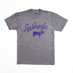 Los Angeles X The Duke Tee Gray, $26,  by Duke and Winston !!