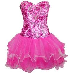 Zeilei Strapless Sequin Pink Sweet 16 Homecoming Short Prom Party Dress