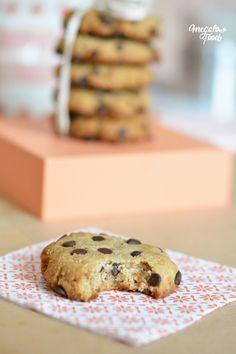 Cookies moelleux vanille & chocolat – ultra-sains, IG bas et sans oeufs…