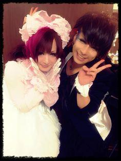 Kayuu. Chobi. V[NEU] x DIV. Girls Dresses, Flower Girl Dresses, Visual Kei, Rock, Wedding Dresses, Flowers, Fashion, Asian, Bride Gowns