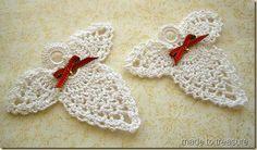 crochet white angels