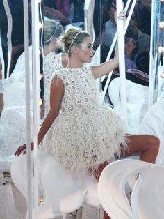 Kate Moss, on Louis Vuitton carousel, spring 2012