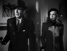 DEAD RECKONING (1947, directed by John Cromwell, for Columbia). It starts in the rain in the dark in a sub-tropical Gulf city, and with a Rembrandt-lit church confessional. Bogie and a pal are G.I.'s back from the war; the latter disappears and Bogie's curiosity draws out sketchy goons and a dangerous femme fatale. A quintessential '40s noir, and a longtime favorite, with a snaky plot, first-person voiceover, flashbacks aplenty and black-black cinematography; it's a thing of beauty…