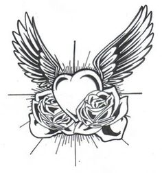 Hearts Drawings With Wings