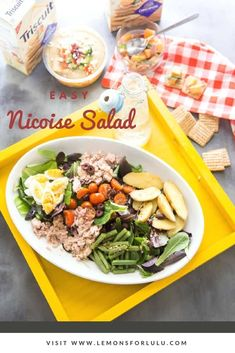 Picnic food gets classed up with a few simple dishes including this easy Nicoise Salad! via @Lemonsforlulu