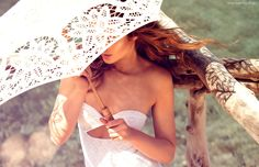 Kobieta, Parasol, Przeciwsłoneczny