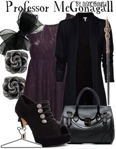 Harry Potter inspired clothes MINERVA MCGONAGALL - Disneybound. Favorite character in the movie. :)