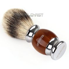#Luxury best shaving brush pure silvertip #badger hair resin kirsite #plated hand,  View more on the LINK: http://www.zeppy.io/product/gb/2/272277443784/