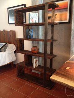 Rustic Industrial Free Standing Bookshelf