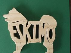 Puzzle mascotas esquimal corte en Sierra por DukesScrollSaw en Etsy