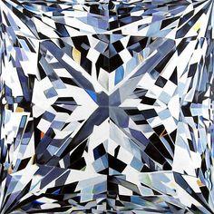 Desejamos que essa seja uma semana #brilhante para todos nós!  Começando a semana com alto astral com essa incrível pintura de Angie Crabtree artista americana que pinta realisticamente as facetas de diamantes ampliadas mais de 1000 vezes.  #bomdia #boasemana #segundafeira #diamante #diamonds #angiecrabtree #realisticart #realisticpainting #pinturarealista #arterealista #brilho #diamondshine