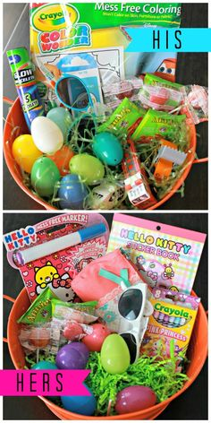 Easter basket ideas for toddlers under age 3 boys girls kids toddler boys and girl easter baskets negle
