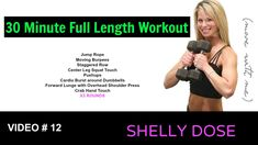 30 Minute Calorie Burning Full Body Strength Training Dumbbell Home Workout, home workout, fitness, cardio workout, workout videos, workout, exercise