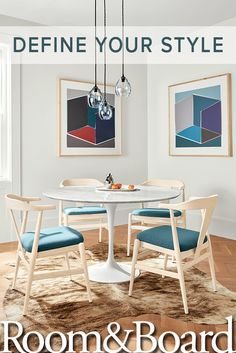 Add a pop of color to your dining space. Mix and match our modern tables and chairs to create your perfect dining set.