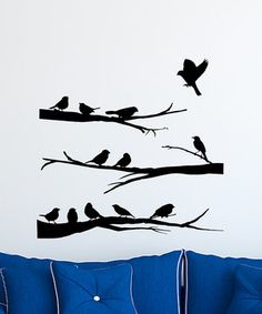Look at this #zulilyfind! Birds on Branches Mural Decal by Wallquotes.com by Belvedere Designs #zulilyfinds
