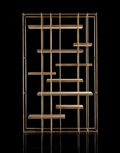 Trendy ideas for wall display unit bookshelves Wall Display Cabinet, Cabinet Shelving, Display Shelves, Shelving Units, Deco Furniture, Home Decor Furniture, Furniture Design, Brass Pipe, Brass Metal