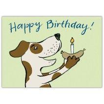 Süße Geburtstagskarte für Hunde Liebhaber mit Hund: Happy Birthday!