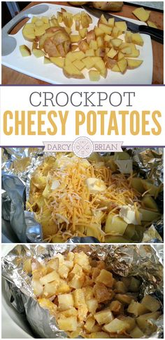 Looking for easy slow cooker dinner recipes? Make a scrumptious potato side dish without heating up the house with the oven. This Crock Pot Cheesy Potatoes recipe is easy to prepare!