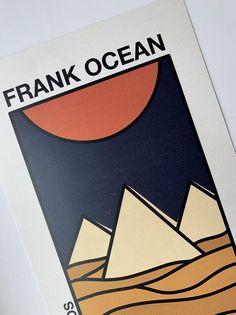 Frank Ocean Poster, Frank Ocean Album, Frank Ocean Tattoo, Ocean Tattoos, Frank Ocean Pyramids, Aesthetic Drawing, Aesthetic Art, Mini Canvas Art, Art Sketchbook