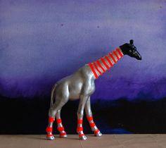 black giraffe// the strange planet. $120.00, via Etsy.
