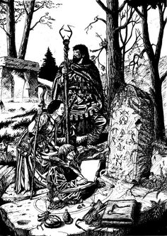 Larry Elmore was one of the fantasy artists that got me into the whole genre when I was a kid. I did this black and white recreation of his full colour . Fantasy Concept Art, Fantasy Rpg, Fantasy Character Design, Fantasy Artwork, Dark Fantasy, Black And White Artwork, Black And White Drawing, Dcc Rpg, Old Dragon
