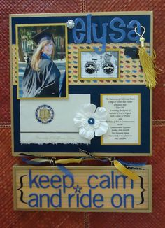 Multi-Media Graduation Project from Altered Artworks School Scrapbook Layouts, Scrapbooking Layouts, Scrapbook Pages, Graduation Project, Graduation Gifts, College Graduation, Graduation 2015, Graduation Ideas, Graduation Scrapbook