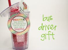 Bus driver gift idea! This is perfect for Boy #1's bus driver.