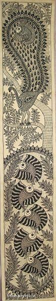 Indian Painting Styles...Madhubani/Mithila Painting (Bihar)-ko07-peacock.jpg