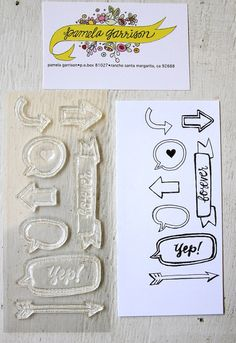 this way forever clear stamp set by pamg on Etsy, $10.00