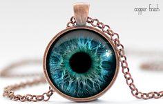 Eye Necklace Third Eye Jewelry Evil Eye Charm by FrenchHoney, #eye #necklace #thirdeye