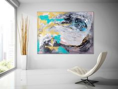Extra Large Wall Art Original Painting on Canvas Contemporary Wallart Modern Abstract Living Room Wall ArtColorful Abstract Painting Unique Paintings, Original Paintings, Original Art, Texture Painting On Canvas, Canvas Paintings, Abstract Paintings, Animal Paintings, Canvas Wall Art, Wall Art Prints