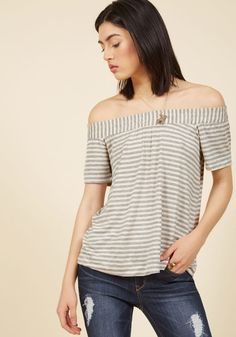 In Casual Company Knit Top in Ivory
