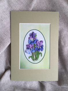 The unique beautiful embroidered picture will bring warmth and beauty to your soul and home. It is made of natural silk ribbons and placed in