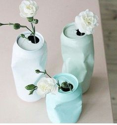 for the right event these are fun.DIY upcycling of cans with spray paint / Vase aus Dose selber machen Diy Tumblr, Diy And Crafts, Kids Crafts, Soda Can Crafts, Easy Crafts, Ideias Diy, Diy Projects, Canning, How To Make
