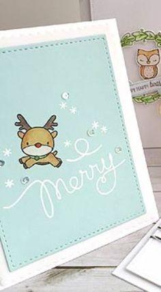 Mama Elephant reindeer card - CAS - bjl